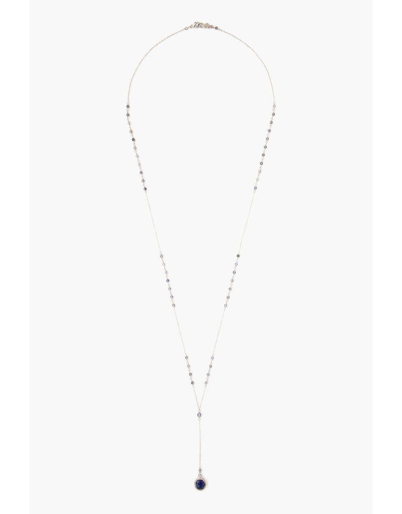 CHAN LUU Iolite Mix Pendant Y-Necklace