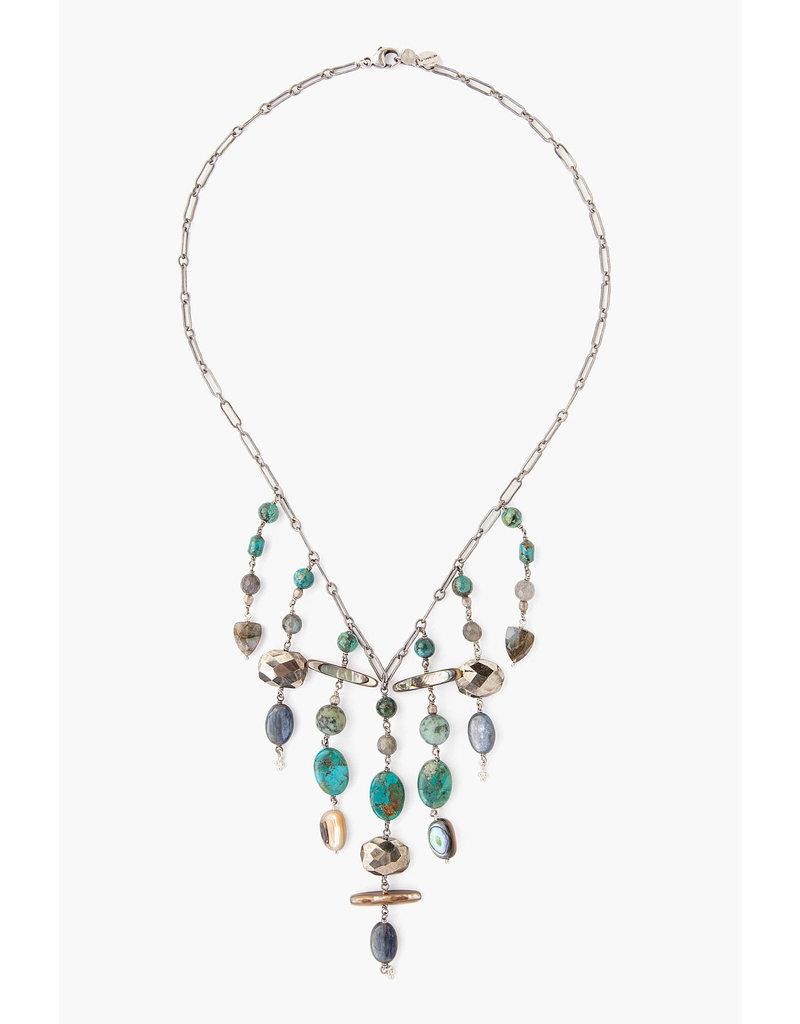 CHAN LUU Turquoise Mix Multi-Strand Necklace