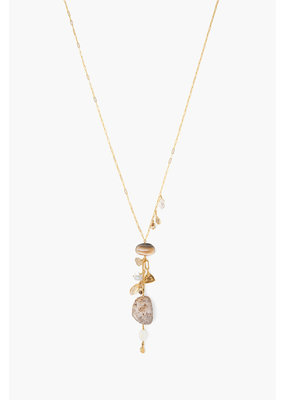 CHAN LUU Natural Mix Stone Charm Necklace