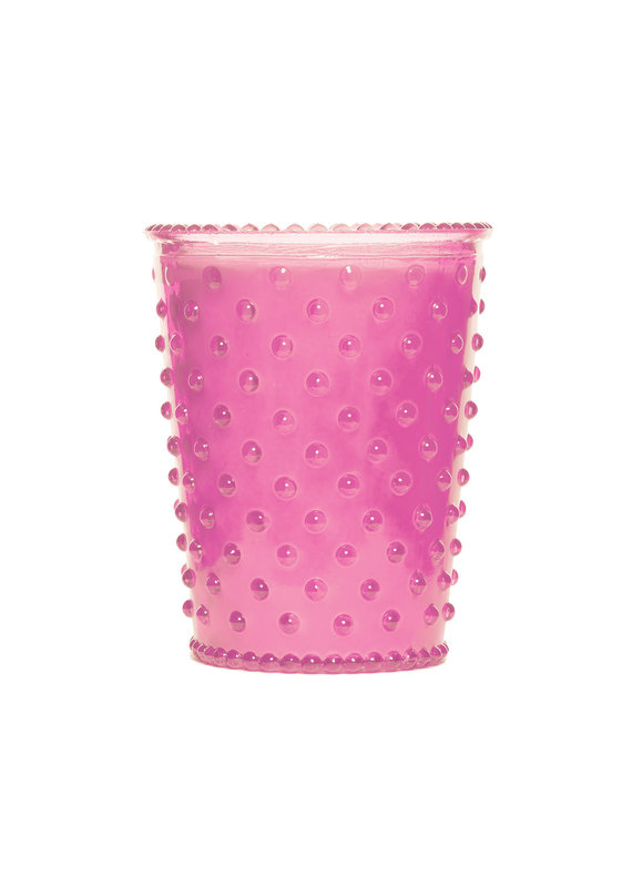 Simpatico Hobnail Glass Candle Lychee