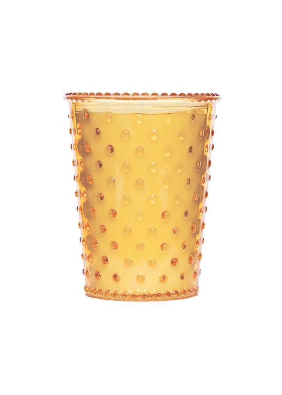 Simpatico Hobnail Glass Candle Quince