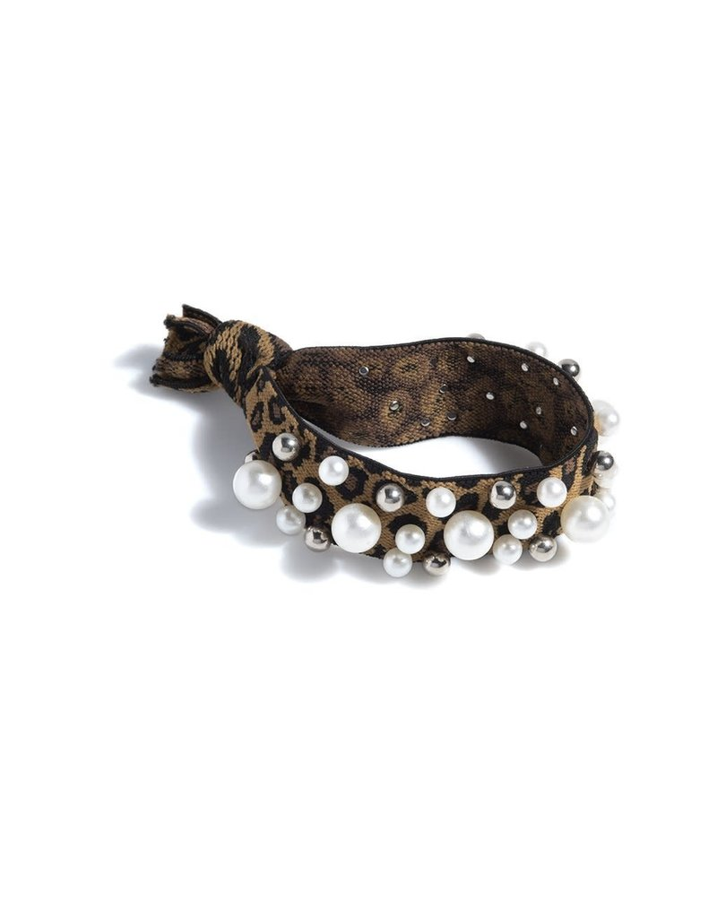 Shiraleah Pearl Pony Tail Holder Leopard