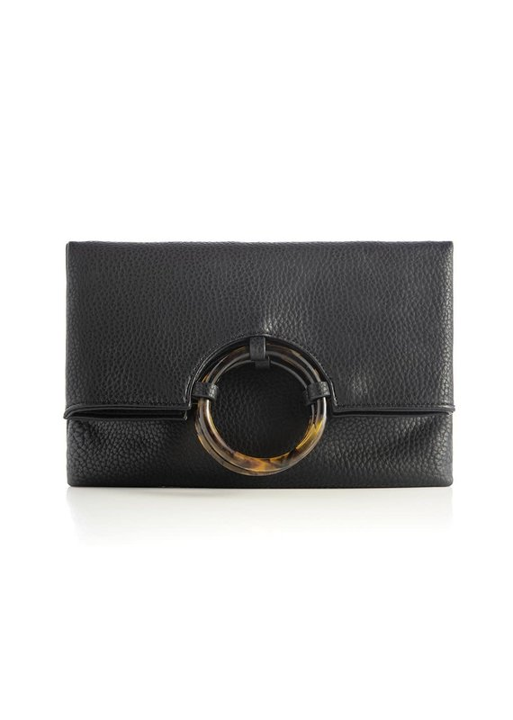 Shiraleah Astrid Fold Clutch Black