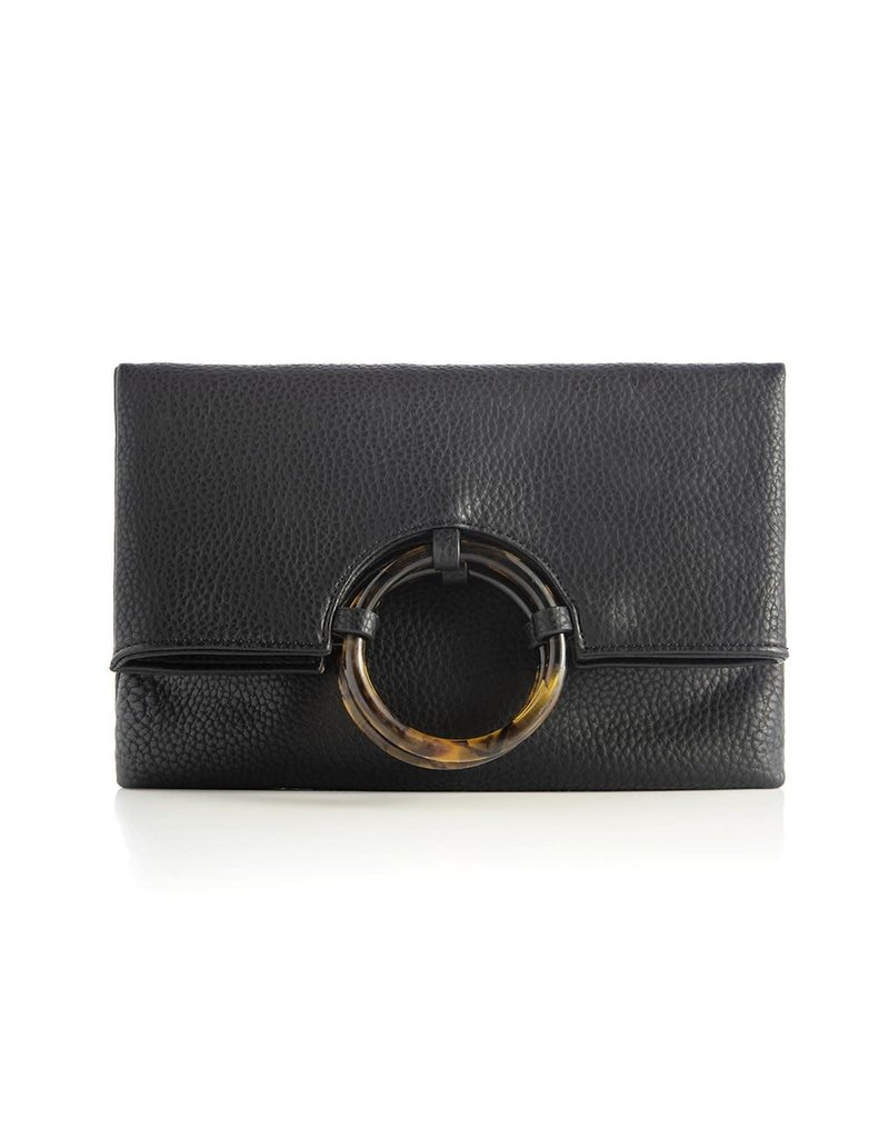 Shiraleah Astrid Fold Clutch Black