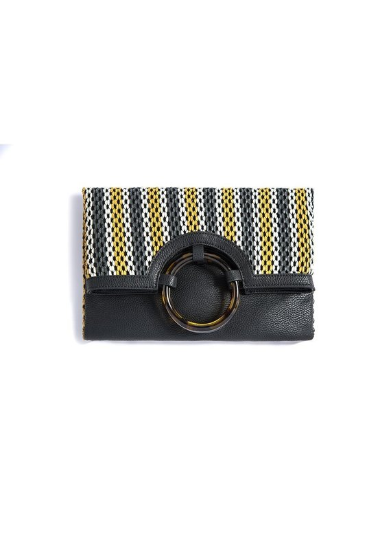Shiraleah Julieta Fold Clutch Black