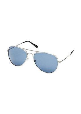 Blue Gem Silver Aviator w Smoke Lens