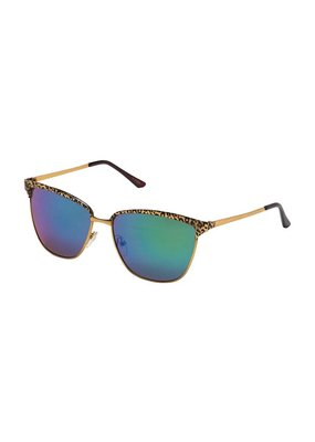 Blue Gem Leopard & Gold w Blue-Green Lens
