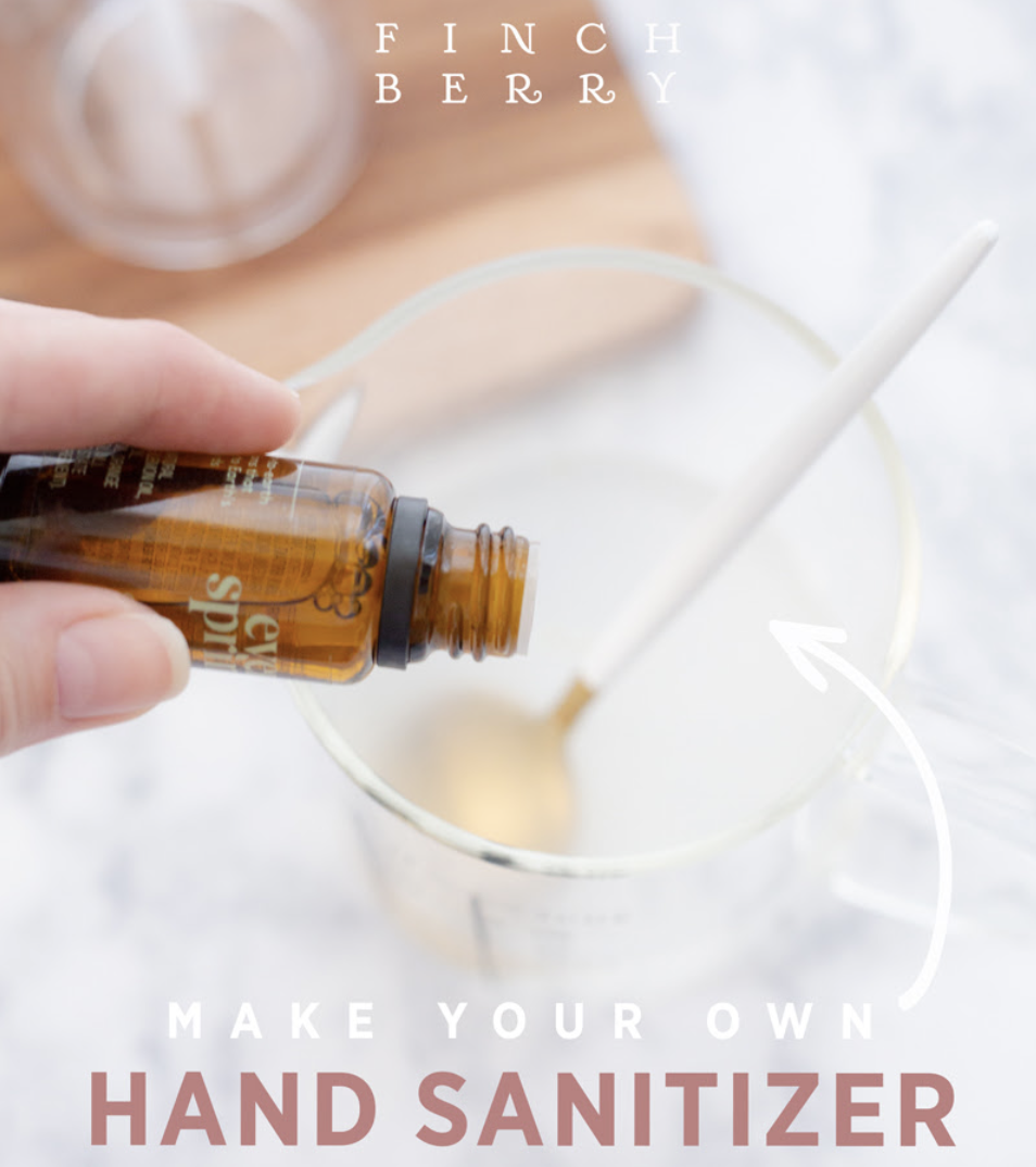 2 Ingredient Hand Sanitizer from Finchberry