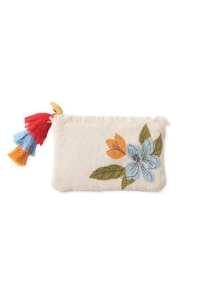 Fringe Magnolia Coin Pouch