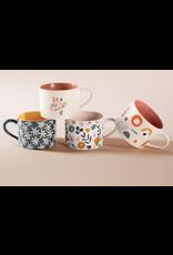 Fringe Daisies Morning Mug