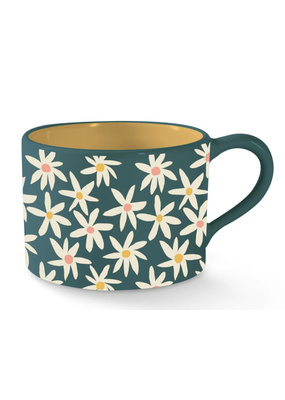 Fringe Daisies Morning Mug