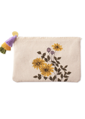 Fringe Daisies Pouch