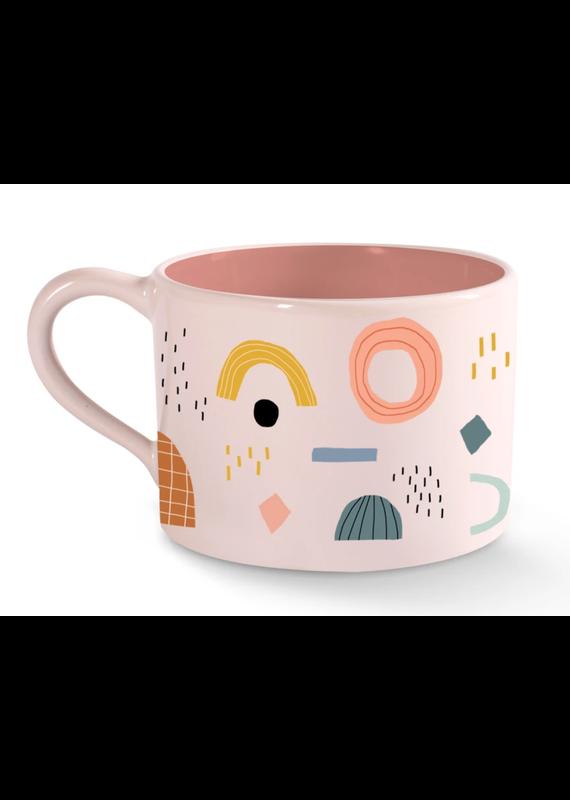 Fringe Shapes Morning Mug
