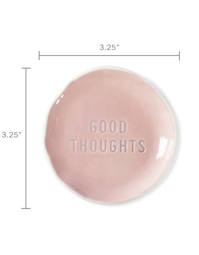 Fringe Good Thoughts Stamped Word Trinket Dish Tray