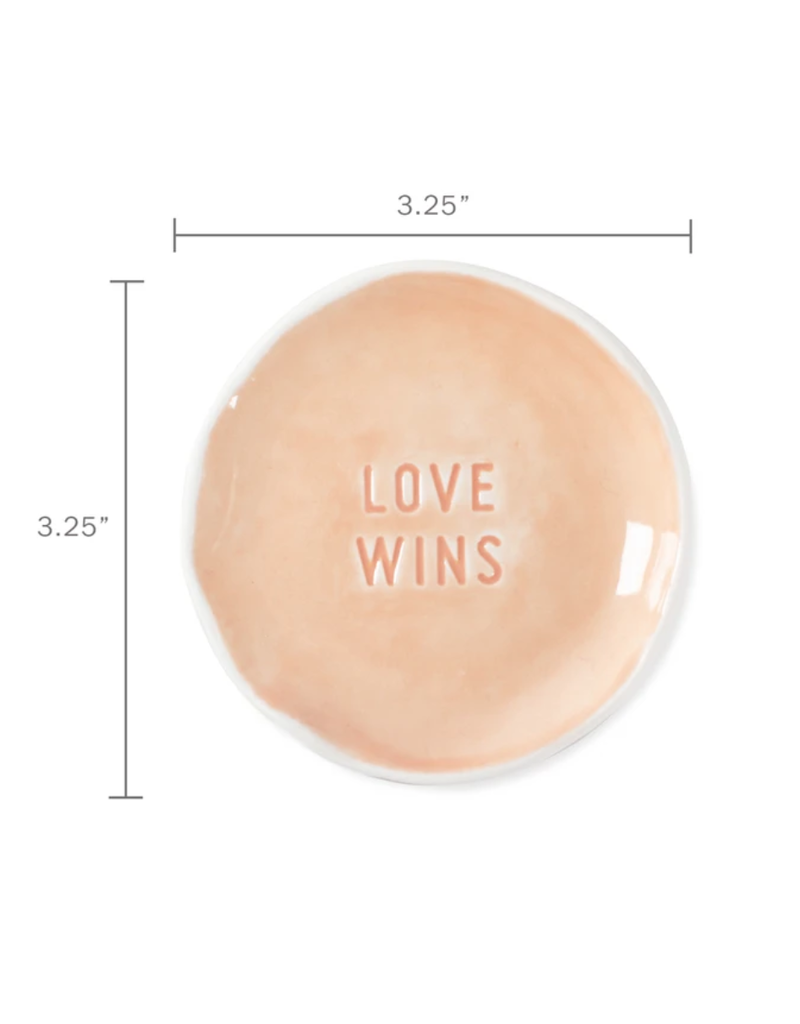 Fringe Love Wins Stamped Word Trinket Dish Tray