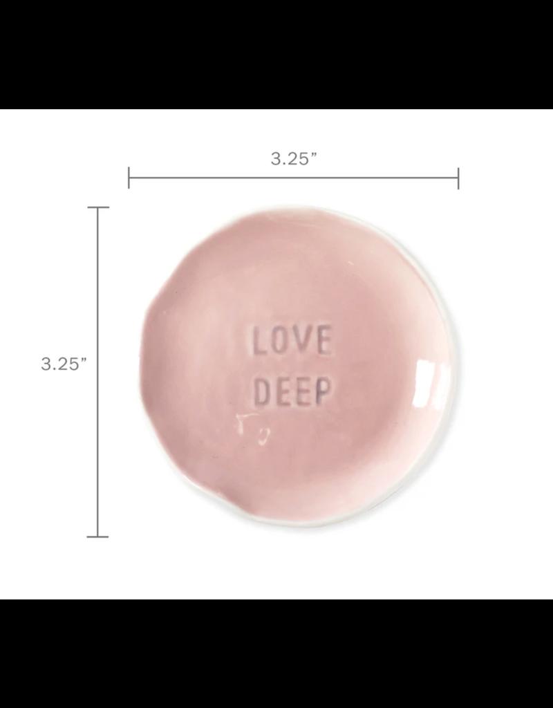 Fringe Love Deep Stamped Word Trinket Dish Tray