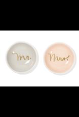 Fringe Mr. & Mrs. Round Trinket Dish Tray Set