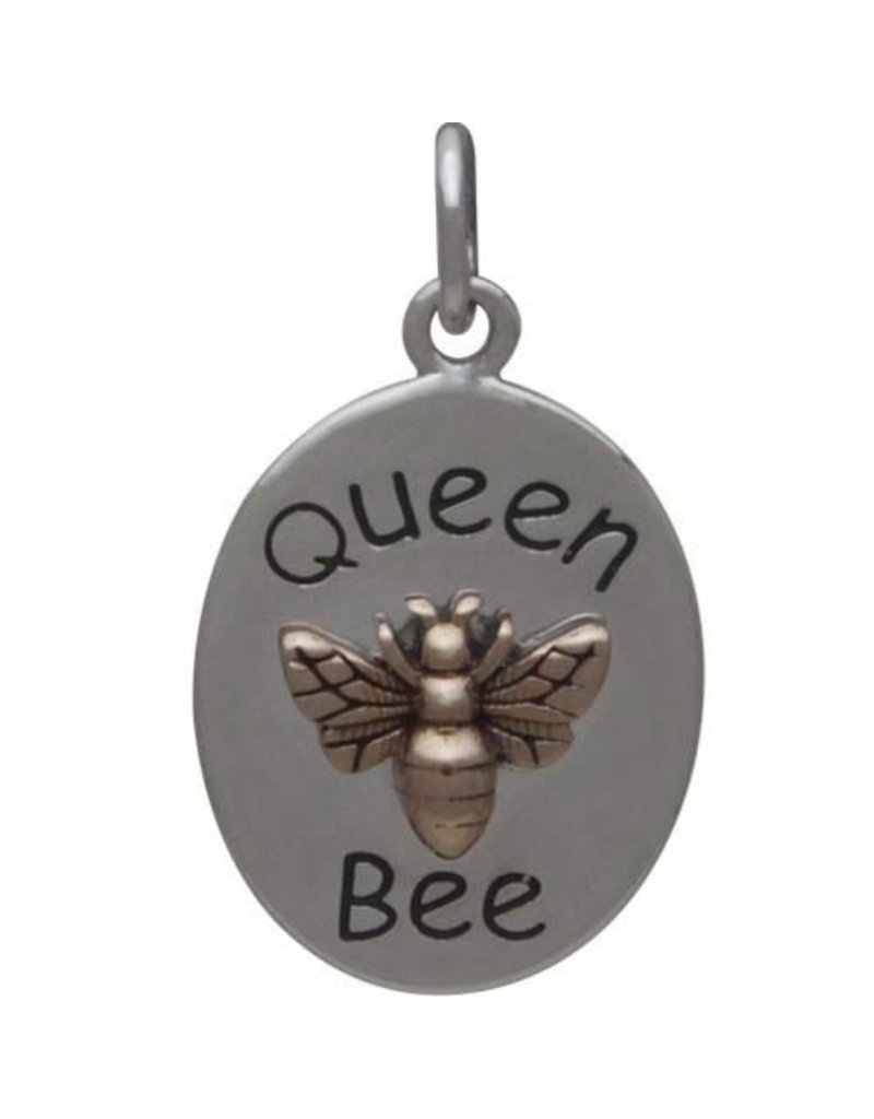 Sterling Silver Bronze Queen Bee Charm
