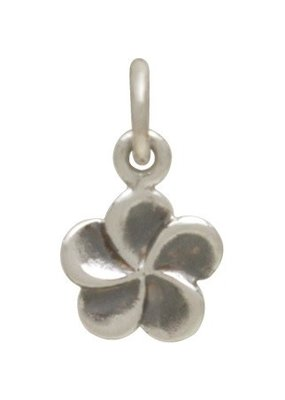 Sterling Silver Plumeria Charm