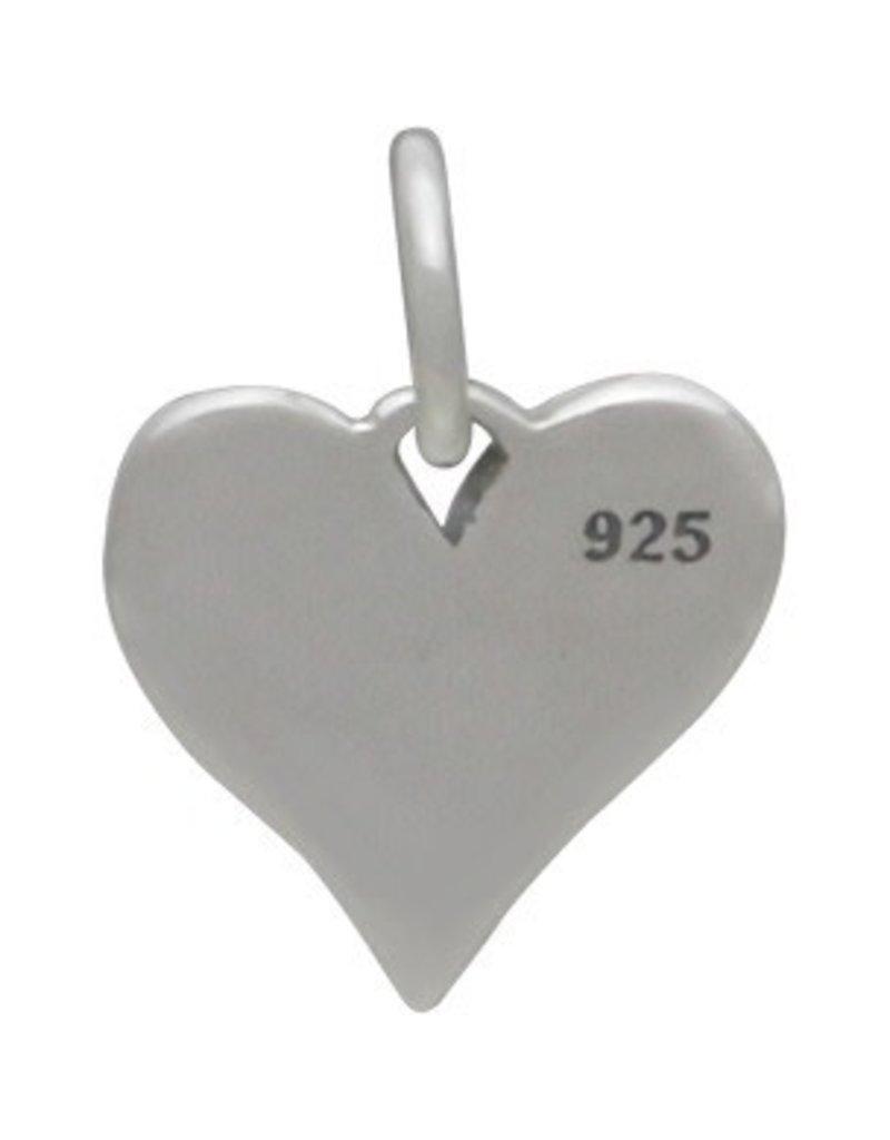Sterling Silver Big Sis Heart Charm