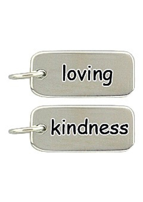 Sterling Silver Loving Kindness Charm