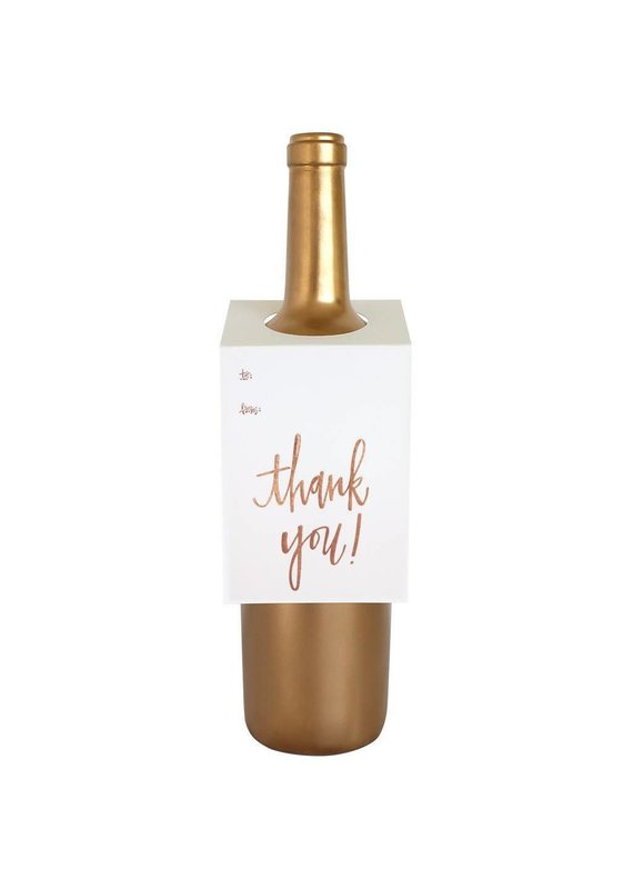 Chez Gagné Thank You Script Wine & Spirit Tag