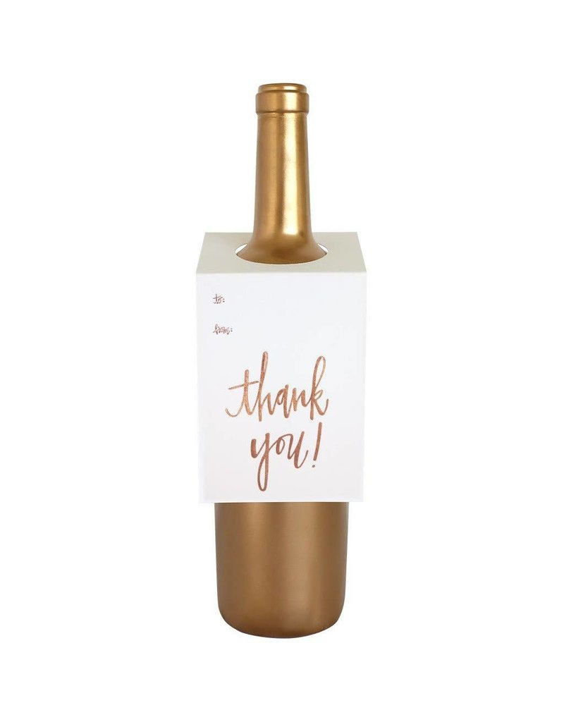 Chez Gagné Thank You Script Wine & Spirit Tag