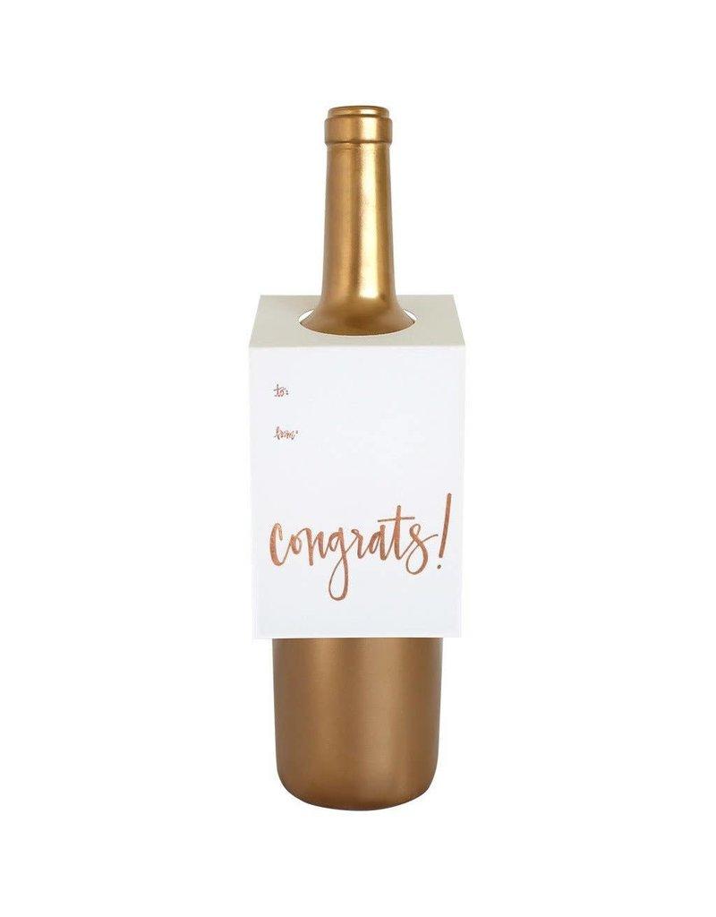 Chez Gagné Congrats Script Wine & Spirit Tag