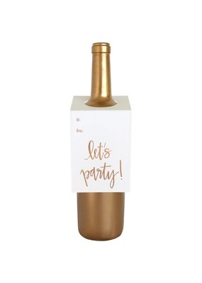 Chez Gagné Let's Party Script Wine & Spirit Tag