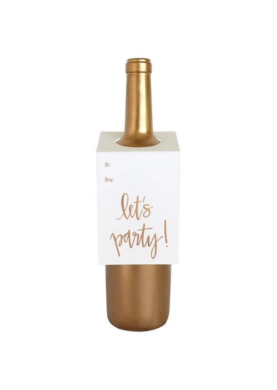 Chez Gagné Let's Party Script Wine & Spirit Tag
