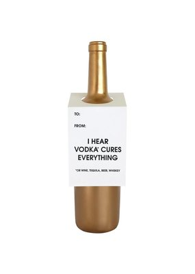 Chez Gagné Vodka Cures Everything Wine & Spirit Tag