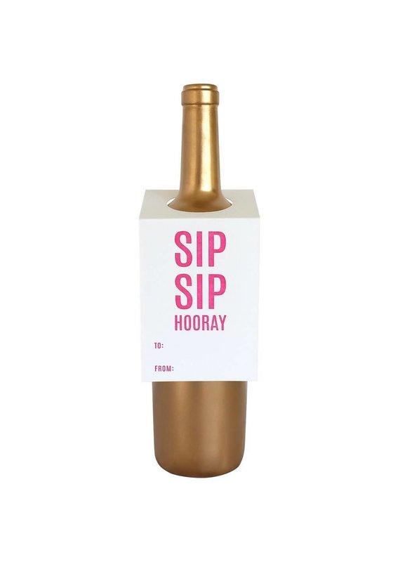 Chez Gagné Sip Sip Hooray Wine & Spirit Tag