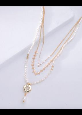 Nakamol Pearl Bead Layered Necklace