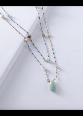 Nakamol Amazonite Bead Layered Necklace