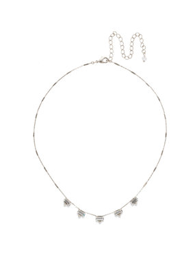 Sorrelli Shine and Dash Clear Crystal in Antique Silver Necklace