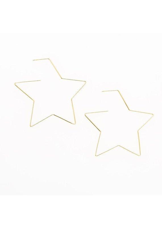 Ink + Alloy Star Wire Earring