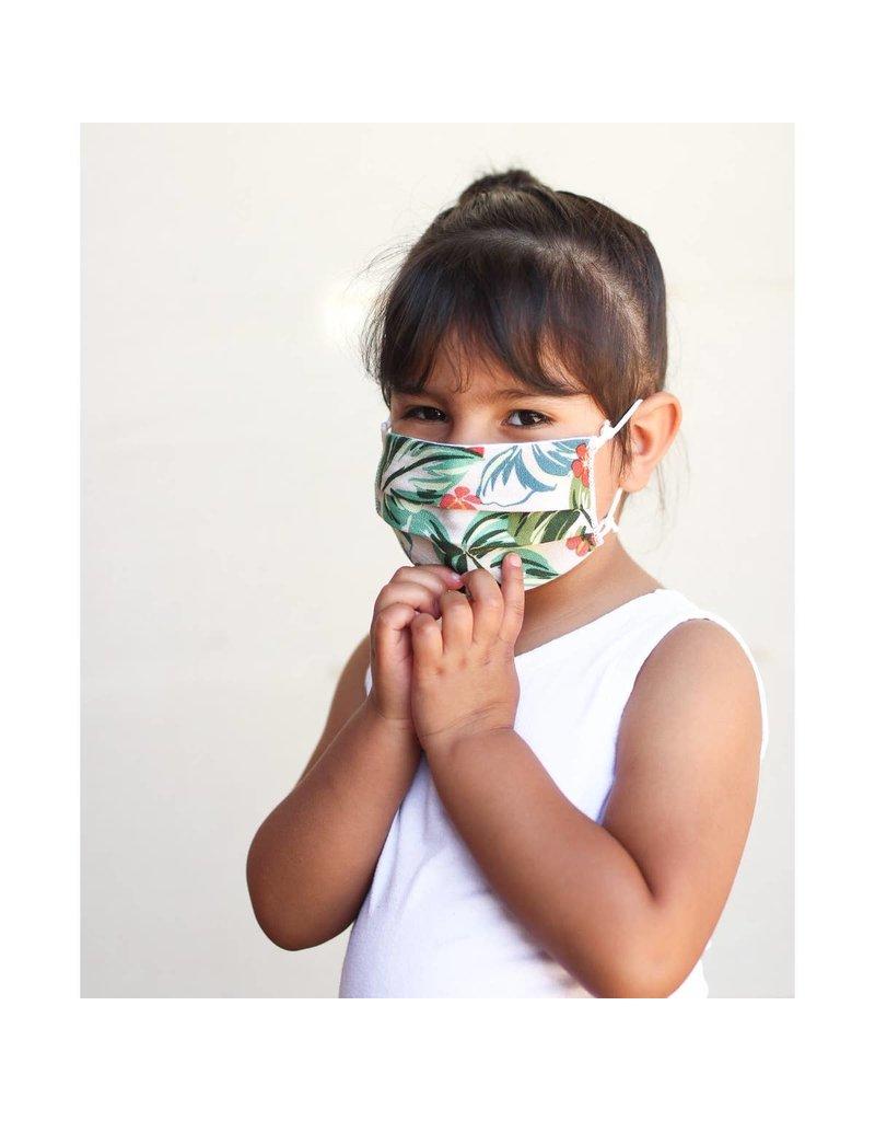 Lost + Wander Rustic Blue Adjustable Plaid Kids Face Mask