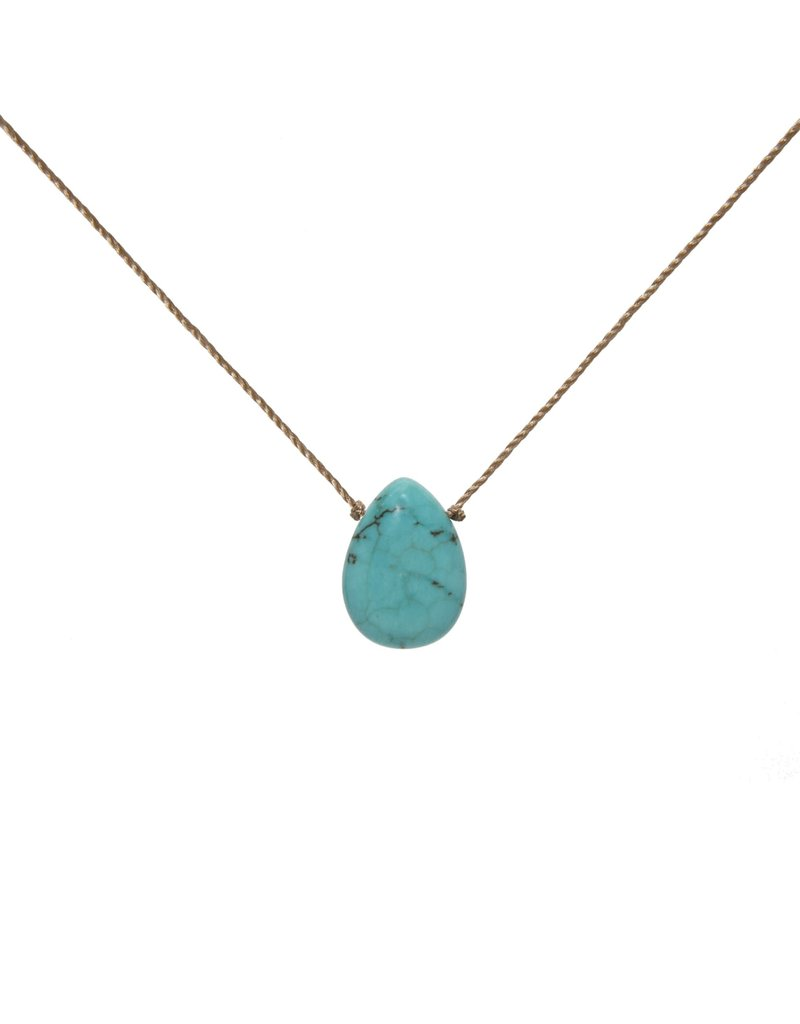 SoulKu Howlite Gem Soul-Full of Light Patience Necklace