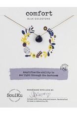 SoulKu Blue Goldstone Gem Soul-Full of Light Comfort Necklace