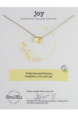 SoulKu Sunflower Yellow Crystal Soul Shine Joy Necklace