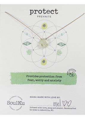 SoulKu Prehenite Sacred Geometry Protect Necklace