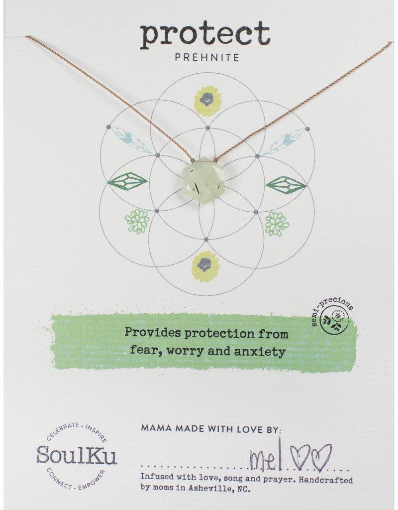 SoulKu Prehenite Sacred Geometry Protect Necklace