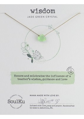 SoulKu Jade Green Crystal Soul Shine Wisdom Necklace