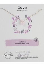 SoulKu Rose Quartz Soul-Full Love Necklace