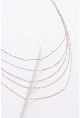 Nakamol Tri-Toned Layered Chain Necklace