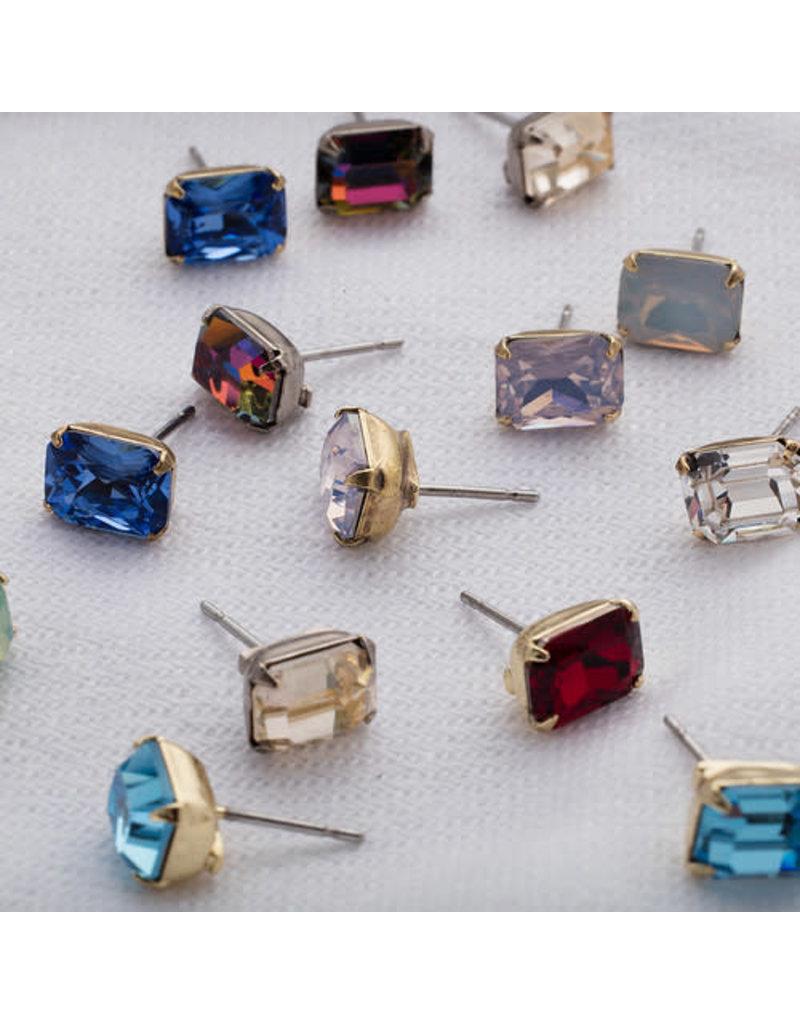 Sorrelli Sorrelli White Opal Emerald Cut Stud Earring