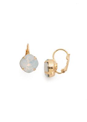 Sorrelli White Opal Cushion Cute French Wire Earring