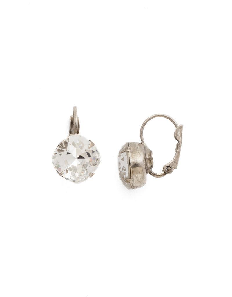 Sorrelli Crystal Cushion Cut French Wire Earring
