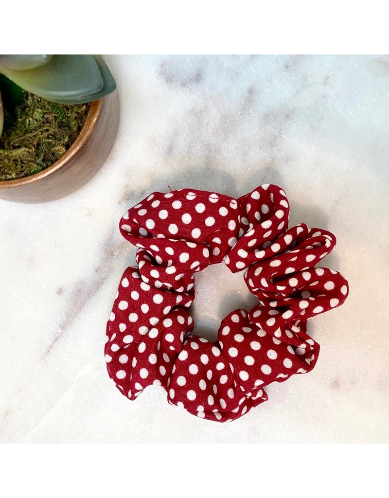 Polka Dot Scrunchie Red