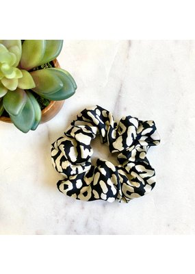 Leopard Print Scrunchie Ivory